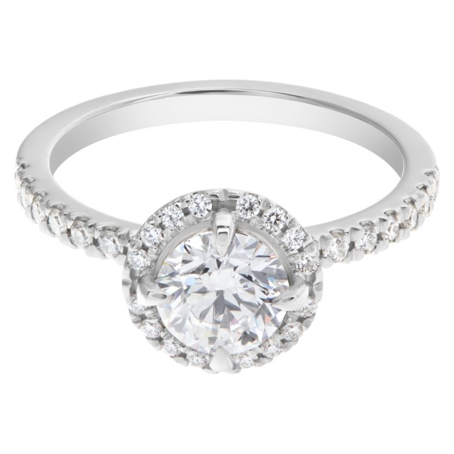 GIA certified 1 carat diamond (D color, Internally Flawless) triple excellent ring image 1