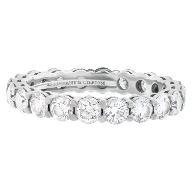 Tiffany & Co. Diamond Eternity Band and Ring platinum ring with 1.80 carat full cut round brilliant diamonds image 1