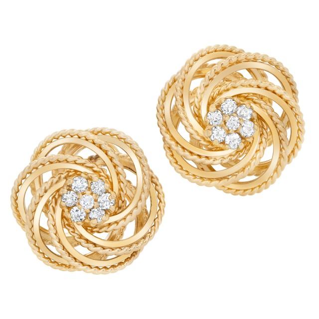 Diamond earrings in 14k image 1