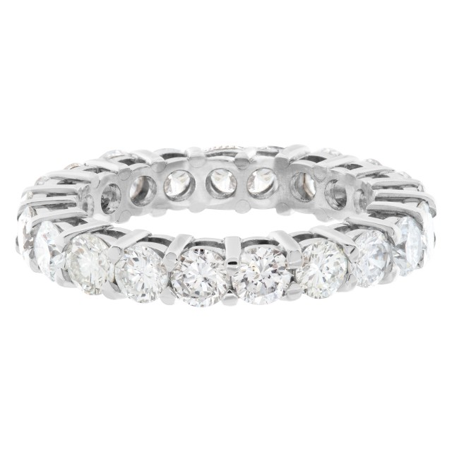 Diamond Eternity Band and Ring Platinum with 2.72 carats in diamonds image 1