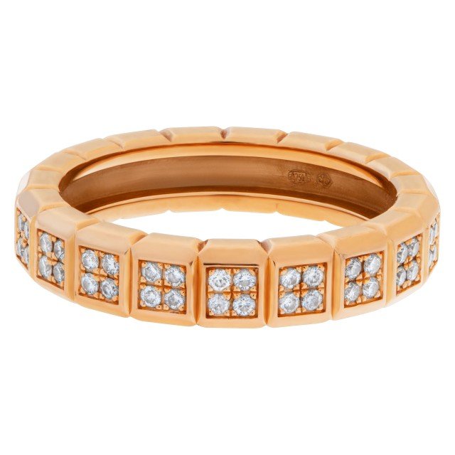 "Chopard ""Ice Cube Pure"" eternity ring in 18k rose gold with diamonds.0.45 carat (G-VS) image 1"