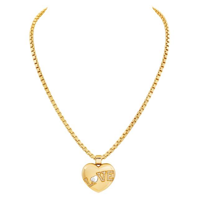 "Chopard Happy Diamond ""Love Heart"" necklace in 18k image 1"