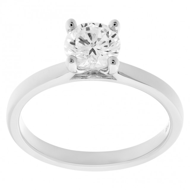 GIA certified round brilliant cut diamond 1 carat (J color, VS1 clarity) ring image 1