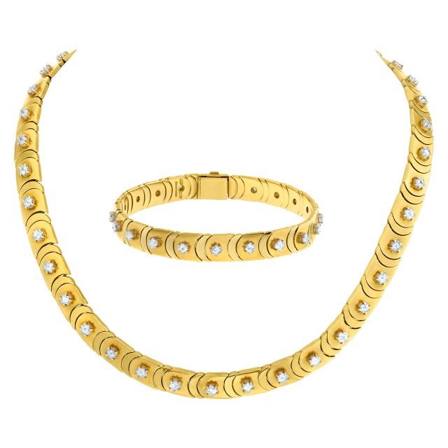 Chimento diamond necklace/choker with bracelet in 18k image 1