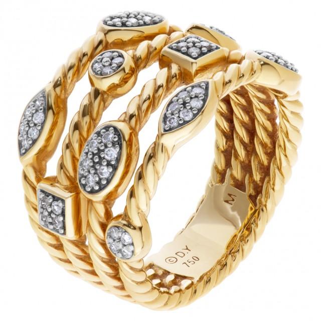 David Yurman Confetti ring in 18k with diamonds image 1