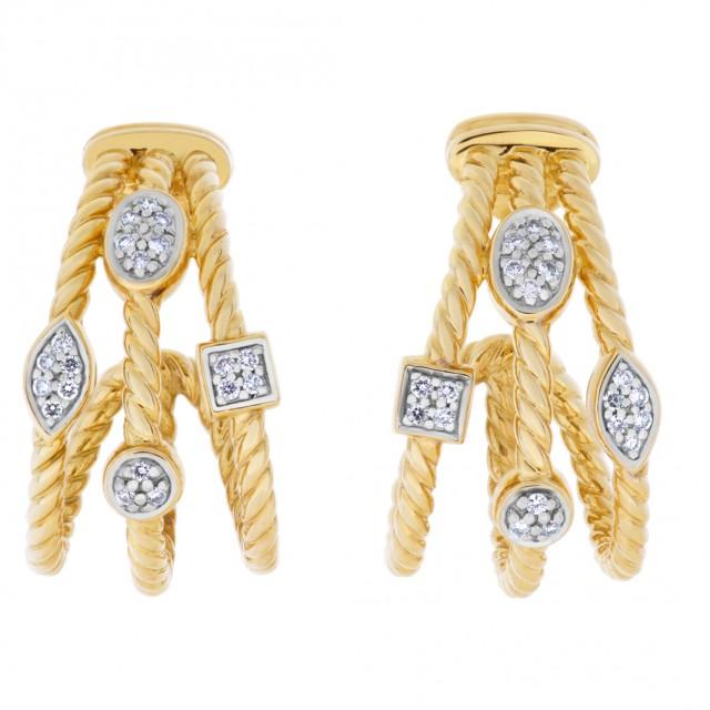David Yurman Confetti earrings in 18k with diamonds image 1