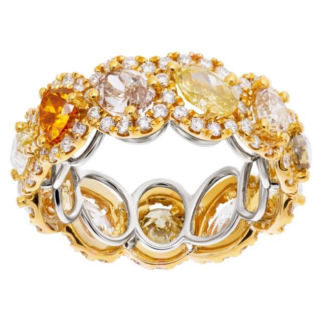 Platinum & 22k gold diamond eternity band image 1