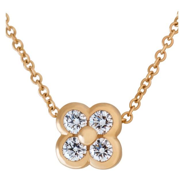 Tiffany & Co. Quatrefoil diamond necklace in 18k image 1