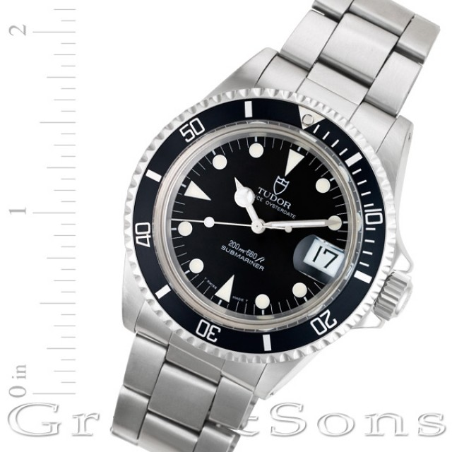 fd4f037657d Pre-owned Tudor Submariner 79090 stainless steel Black dial 40mm auto