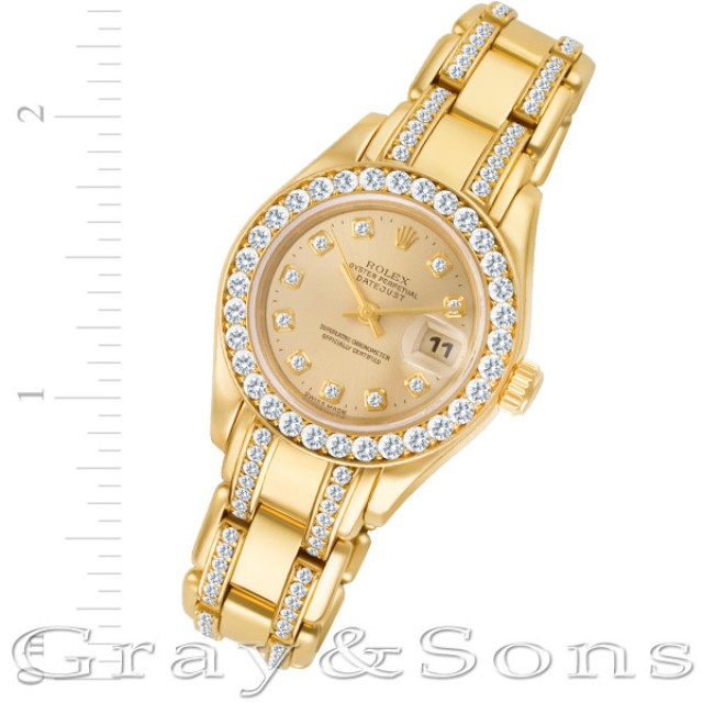 Ladies Rolex Pearlmaster 29mm 69298 image 1