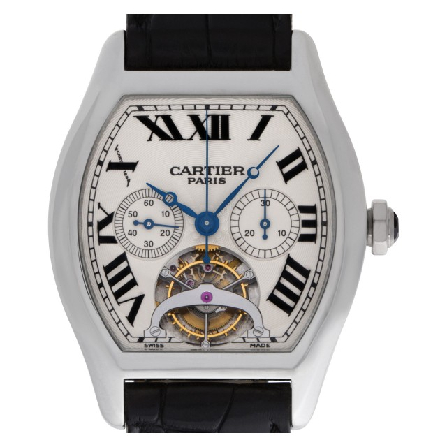 "Unused Cartier Tortue ""Tourbillon Platinum"" 39mm W1545751 image 1"