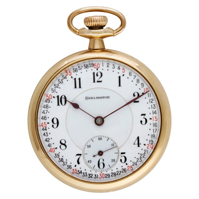 Burlington pocket watch 46mm image 1