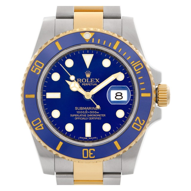 "Rolex Submariner ""Smurf dial"" 40mm 116613 image 1"