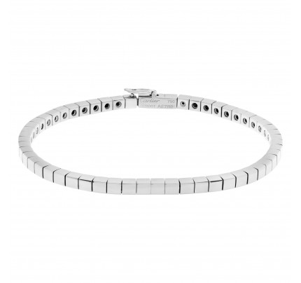 Cartier Lanieres bracelet in 18k white gold. 6.5 inches long.