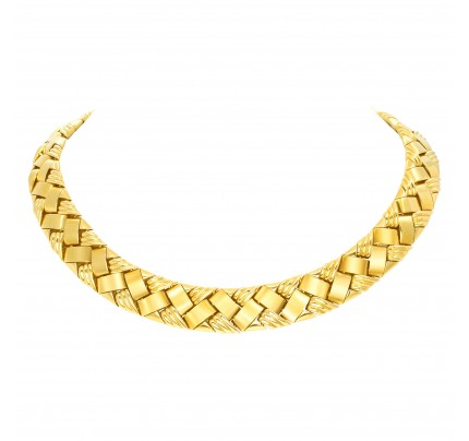 From the Synthesis collection by reknown Milan Italian designer Piero Milano, spectacular necklace in 18K.