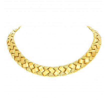 Gorgeous 18k yellow gold necklace/choker