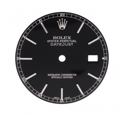 Rolex Datejust black stick dial