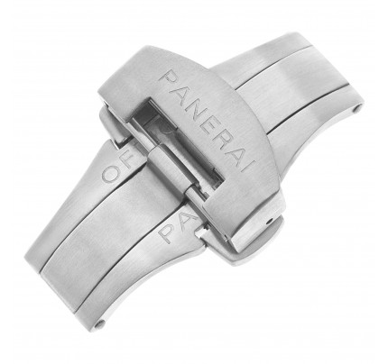 Panerai stainless steel deployment buckle complete with box and steel bar (22mm)