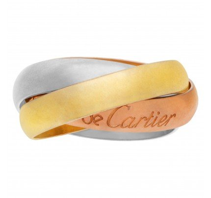 Cartier Tricolor ring in 18k white, yellow, and pink gold