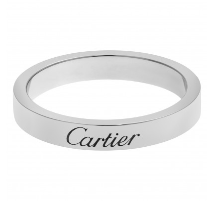 C De Cartier wedding band in Platinum