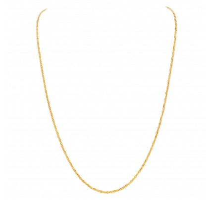 Rope style necklace in 18k yellow gold