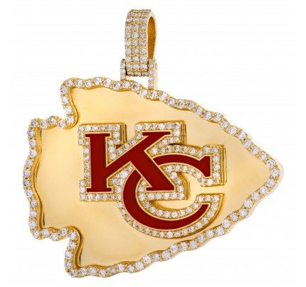 Kansas City pendant in 18k with over 2cts in diamonds