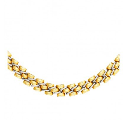 Necklace made in Italy in 18k white & yellow gold