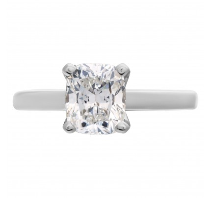 GIA certified cushion modifed cut diamond 1.55 carat (H color, VS2 clarity) ring