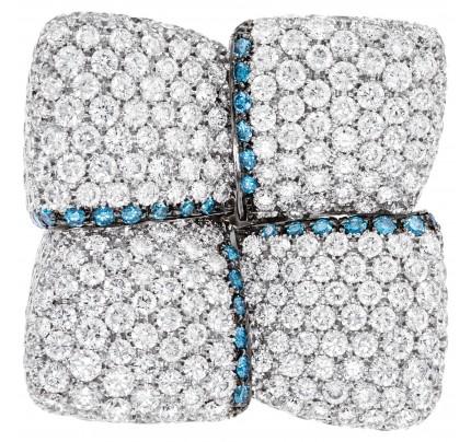 Ladies Diamond Art work in 18k white gold