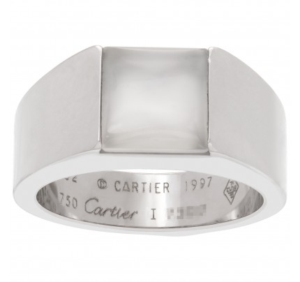 Cartier Tank ring in 18k white gold with moonstone