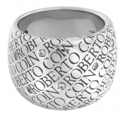 Roberto Coin 18k white gold with 9 diamonds