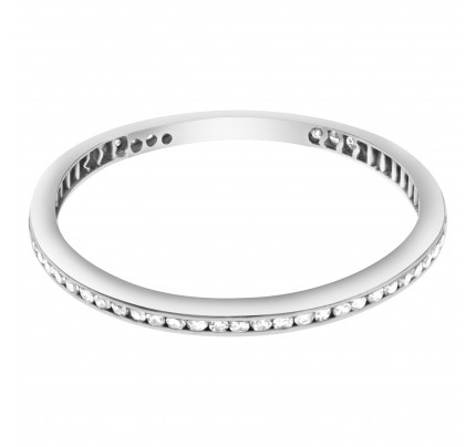 Diamond Eternity Band and Ring set in platinum. Size 9.75