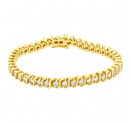 Diamond Tennis bracelet in 14k yellow gold. 3.00 carats (I color, SI2 clarity)