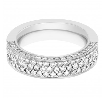 Wempe pave semi Diamond Eternity Band and Ring approx. 1.5 cts in diamonds