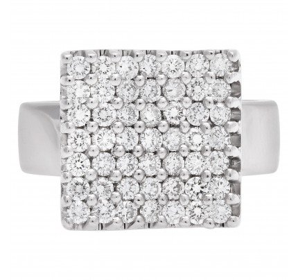 DD Davite & Delucchi Gioielli diamond ring with over 1.20 cts in 18k white gold