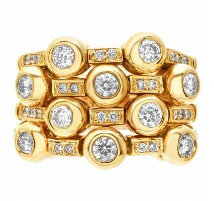 Flexible diamond ring with over 1 ct in diamonds set in 14k gold