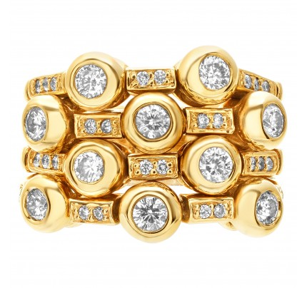 Flexible diamond ring with over 1.0 ct in diamonds set in 14k gold