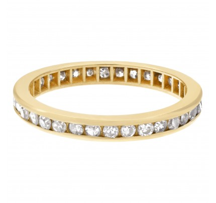 "Diamond ""Eternity"" band in 14k yellow gold"