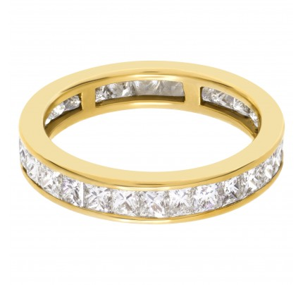 Diamond Eternity Band and Ring Princess cut with approximately 1 carat in G color VS clarity diamonds