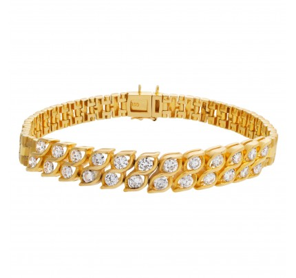 Diamond bracelet in 18k with over 1.25 carats in G-H color, VS clarity diamonds