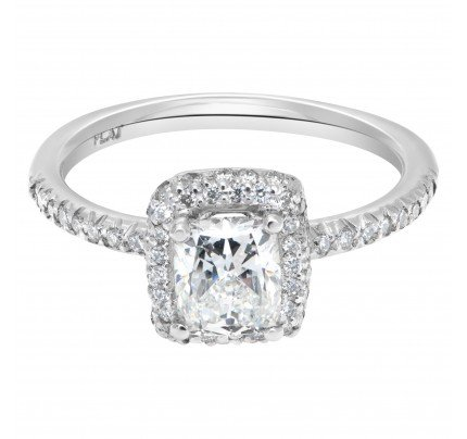GIA certified rectangular modified cut 1.01 carat diamond (G color , VS1 clarity) ring