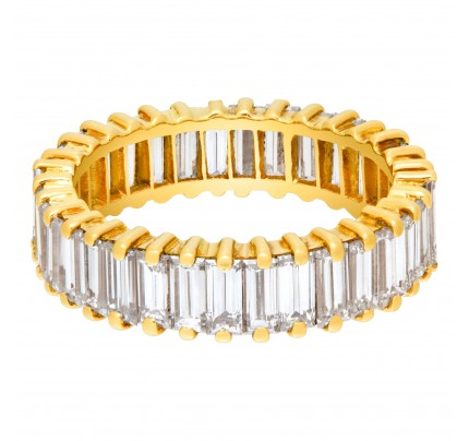Diamond Eternity Band and Ring with over 3.50 carats in diamonds in 18k