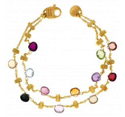 Marco Bicego Semi Precious Stone Bracelet In 18k Yellow Gold