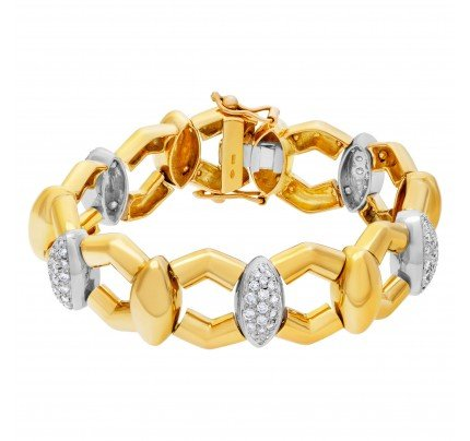 Diamond bracelet set in 18k yellow gold approximately 2.35 carats in diamonds
