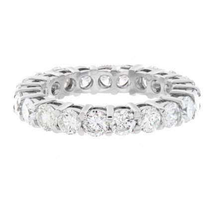 Diamond Eternity Band and Ring Platinum with 2.72 carats in diamonds