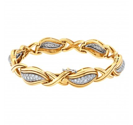 Diamond bracelet in 18k