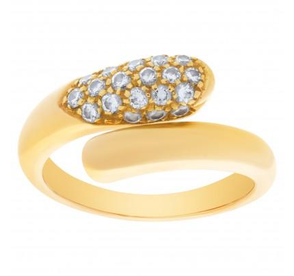 Bvlgari Pave diamond ring in 18k yellow gold 0.50 crats in diamonds