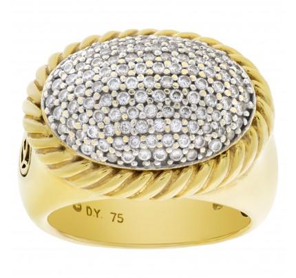 David Yurman Albion diamond ring in 18k