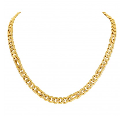 Chain in 18k with diamond accents