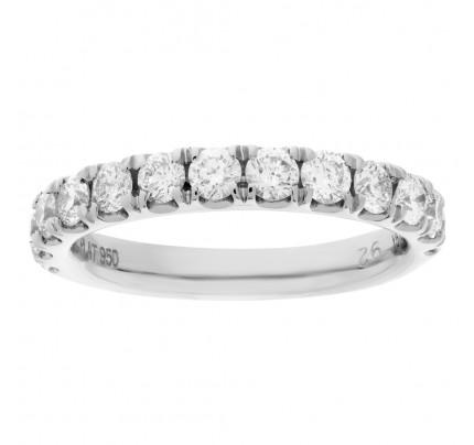 Semi eternity diamond ring in platinum